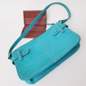 Charter Club Teal Purse and Brown Billfold